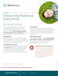 Children's Eye Health and Safety