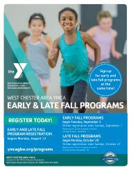 West Chester Area YMCA Fall Program Guide - 2019