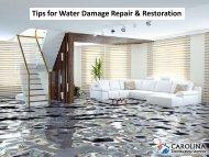 Tips for Water Damage Repair & Restoration