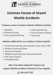 Common Causes of Airport Shuttle Accidents