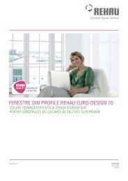 Prezentare profil Rehau Euro Design 70