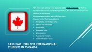 Study in Canada – Part Time Jobs Options