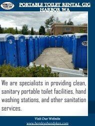 Portable Toilet Rental Gig Harbor Wa