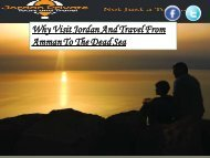 Why Visit Jordan And Travel From Amman To The Dead Sea
