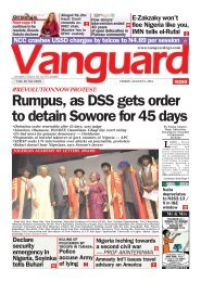 09082019 - Rumpus, as DSS gets order to detain Sowore for 45 days