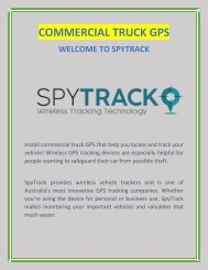 Get the Best Commercial Truck GPS | spytrack