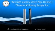 Buy Stove Pipe & its accessories at Great Prices – Special Offer