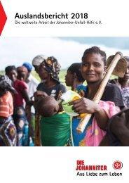 Auslandsbericht 2018 der Johanniter-Unfall-Hilfe e.V.