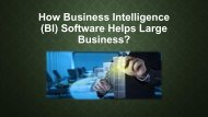What is Business Intelligence Software & How it helps large business?