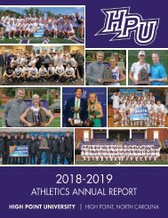 2018-19 HPU Athletics Annual Report