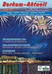 August 2019   Borkum-Aktuell - Das Inselmagazin
