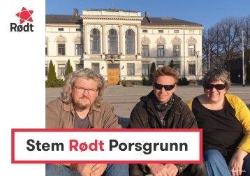Valgprogram 2019 - Roedt Porsgrunn