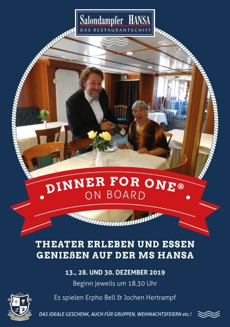Dinner for One on board