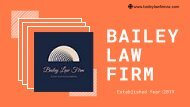 Best Professional Attorney in Arizona |Bailey Law Firm