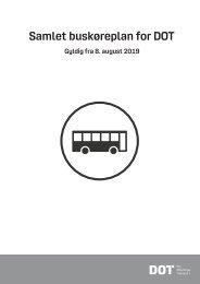 Samlet buskøreplan for DOT | Gyldig fra 8. august 2019