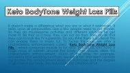 Keto BodyTone - Keto BodyTone Weight Loss Pills
