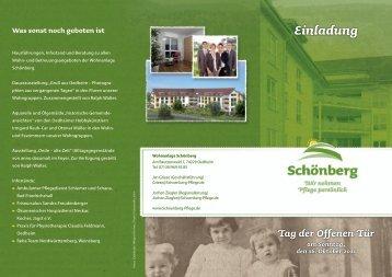 Tag der Offenen Tür am Sonntag, den 16. Oktober 2011 Einladung