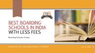 Best Boarding Schools in India with Less Fees (update 2019)