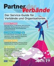 Partner der Verbände - Der Service-Guide für Verbände und Organisationen 2018/19