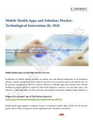 Mobile Health Apps and Solutions Market to Grow at a High CAGR of by 2026