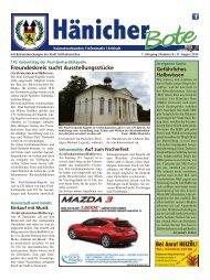Hänicher Bote | August-Ausgabe 2014