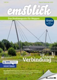 Emsblick Meppen Heft 33 - August/September 2019