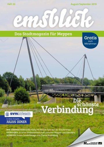 Emsblick Meppen Heft 33 - August/September 2019