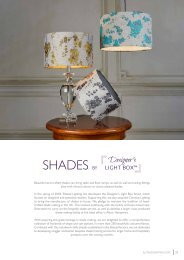 Washington Lighting and Interiors - Bespoke Shademaking