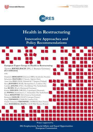 Health in Restructuring - Institut für Psychologie der Arbeit ...