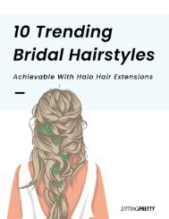 10 Trending Bridal Hairstyles with Halo Hair Extensions