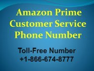 Amazon Prime Video Customer Support Phone Number +1-866-674-8777