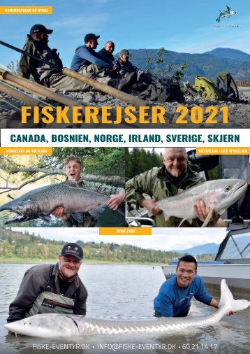 Fiskerejser fra Fiske-eventyr.dk i 2021 og 2022