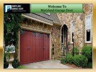 Best Garage Door Services Maryland