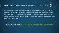 How to Fix Error 0x800c0133 in Outlook?