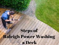 Steps of Raleigh Power Washing a Deck by Peak Pressure Washing