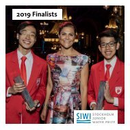 2019 Stockholm Junior Water Prize Finalists