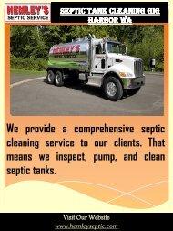 Septic Tank Cleaning Gig Harbor Wa