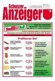 Schwyzer Anzeiger – Woche 33 – 16. August 2019