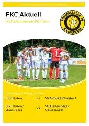 FKC Aktuell - 03. Spieltag - Saison 2019/2020