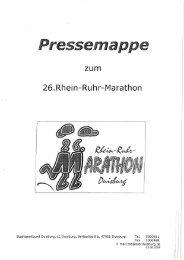 26.Rhein-Ruhr—Marathon - Stadtsportbund Duisburg e.V.