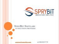 SpryBit Softlabs - Web, Mobile App & Ecommerce Development Company