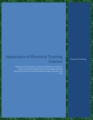 Importance of Electrical Training Courses