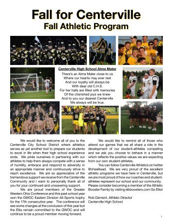 2018-2019 Fall Program