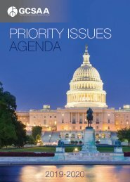 Government Affairs 2019-2020 Priority Issues Agenda
