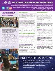 Thousand Oaks Teen Center Fall 2019 Program Guide
