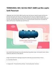 2. TERMURAH, WA +62 812-9627-2689 Jual Bio septic tank Pasuruan