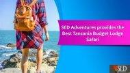 SED Adventures provides the Best Tanzania Budget Lodge Safari