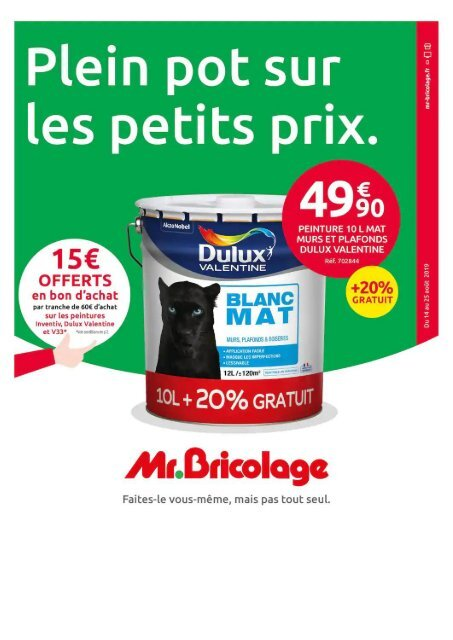 Mr Bricolage catalogue 13 aout-25 aout 2019