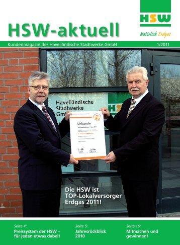 HSW-aktuell - Havelländische Stadtwerke GmbH