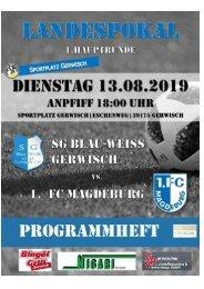 2018/20  - Heft 2 - Programmheft FSA 1. HR SG BW Gerwisch - FCM